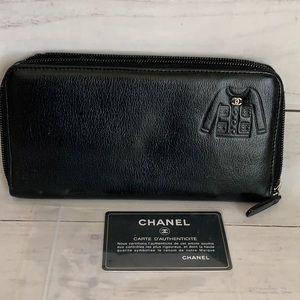 CHANEL Coco Mark Little Jacket Motif Wallet